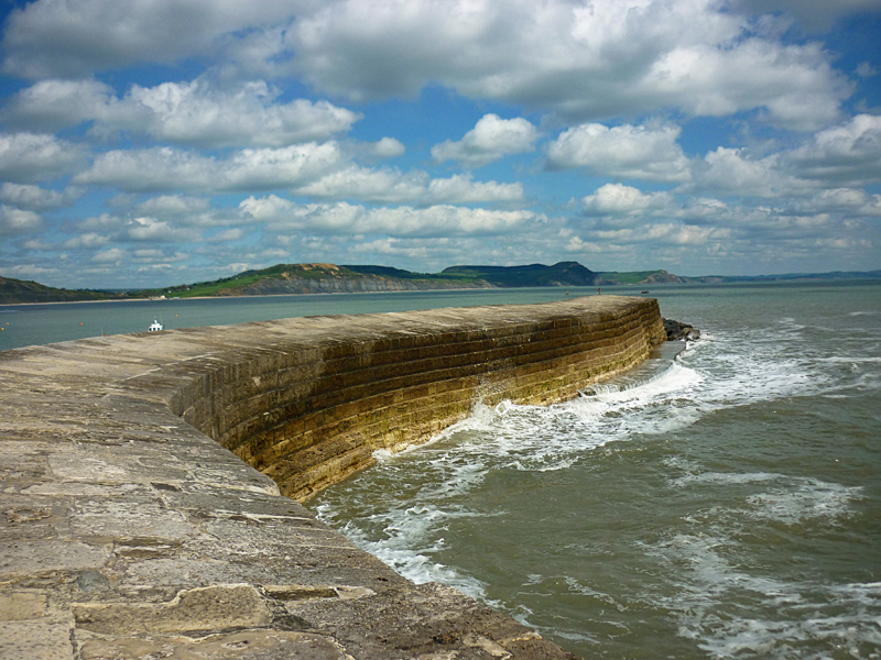 Famous for its ancient Cobb Harbour, which dominates the view out to sea from the south facing beaches, Lyme Regis provides safe bathing and a promenade on which to wander.